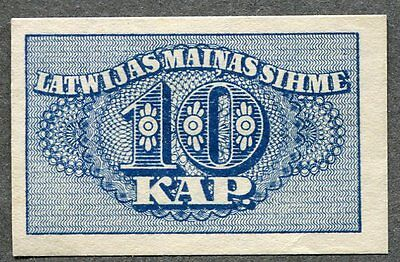 Latvia  10 Kapeikas 1920 Unc Condition !!!
