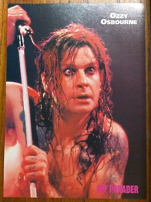 Ozzy Osbourne / Black Sabbath / 1990 Original Magazine Pinup Clipping + Free Dvd