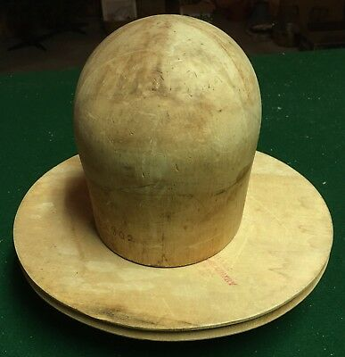 Vintage Louie Miller School of Millinery Hat Form, 3-Pieces, Solid Wood