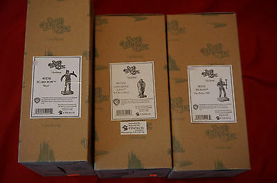 3 Jim Shore Wizard of Oz Scarecrow Tin Man Cowardly Lion 4031510 4031511 4037532