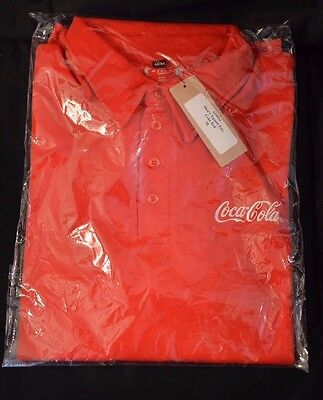 Coca-Cola Polo Tipped Shirt Mens Size M New with Tag short sleeve