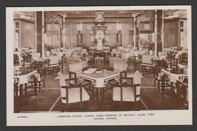 Cathay Lounge : Canadian Pacific Liner EMPRESS OF BRITAIN (1931-1940)