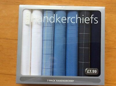 Next Men's Handkerchiefs In Shades Of Blue