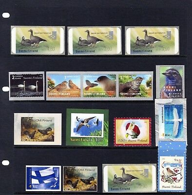 FINLAND , various self adhesive BIRDS issues Unused.