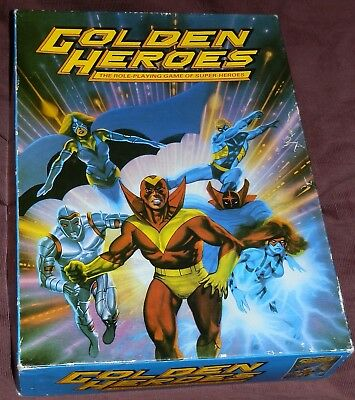 Golden Heroes 1984 Games Workshop Roll-Playing Super-Heroes Game
