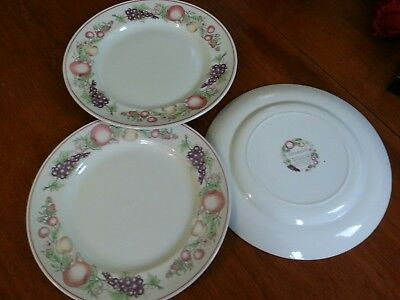 Boots Orchard Set of 3 Dinner Plates.