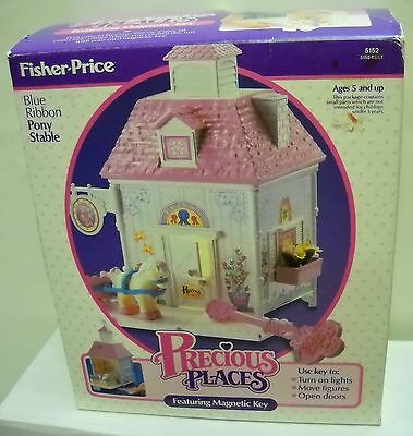 #1917 NRFB Vintage Fisher Price Precious Places Pony Stable