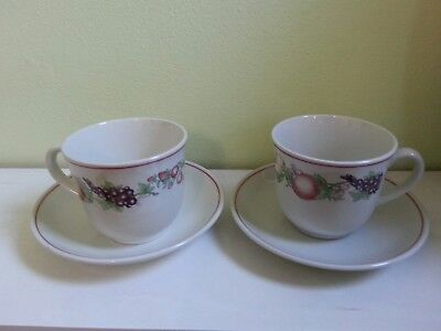 Boots Orchard Pair of Cups & Saucers.