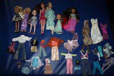 Amazing bundle of Bratz x 2 , Bratz teenagers x 4 + some accessories