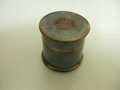 Vintage Chinese Cloisonne Pill Box