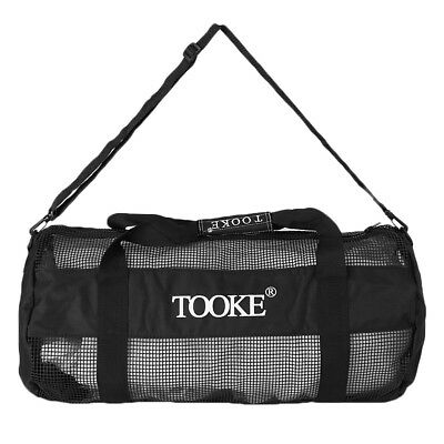 Deluxe Black Mesh Dive Gear Bag For Scuba Diving Snorkeling Swimming Surfing