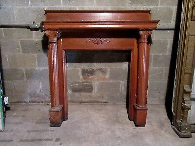 ~ Antique Carved Oak Fireplace Mantel~ 53 X 56 ~ Architectural Salvage ~