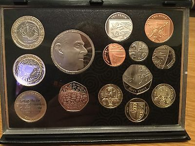 2011 UK Proof Coin Set Including Edinburgh & Cardiff 1 pound coin
