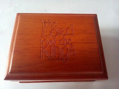 Collectable Tolkien Lord of the Rings Wooden Ring Box - No Ring Inside