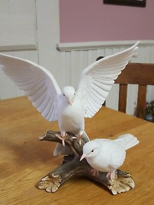 Home Interior Masterpiece Porcelain Birds Doves By Homco 1985