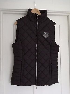 Mark Todd Black Equestrian  Zip Front Padded Gilet Size 14 New Without Tags