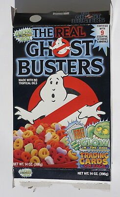 Ghostbusters Glow In The Dark Cereal Box  with trading cards 1988