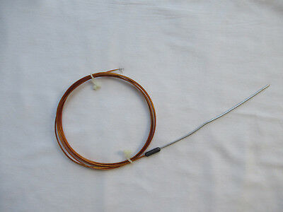 "Mini Mineral Insulated Type K Thermocouple .040 Dia. 6"" Probe, 72"" Kapton Leads"
