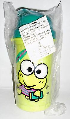 NEW~ Sanrio Vintage Keroppi Plastic Thermos Bottle Hello Kitty Friends 1996