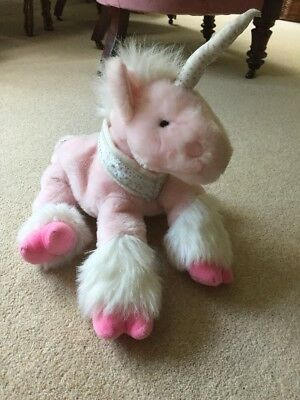 Chad Valley Cute Plush Unicorn Vgc Pink And Sparkly!