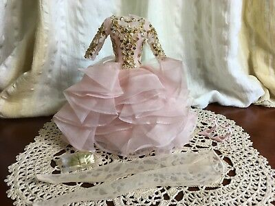 Barbie Silkstone Blush & Gold Cocktail Dress Complete Outfit Only Newly De-Boxed