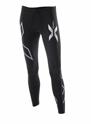 New 2XU Women Compression Cycle Tights Black XS or Small Road Bike PADDED Shorts