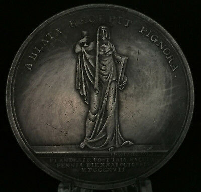 Russian 300th anniversary of Augsburg confession in Finland Medal 50mm Silver