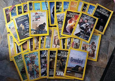 National Geographic Magazines 39 copies from 1960s/90s/2000s