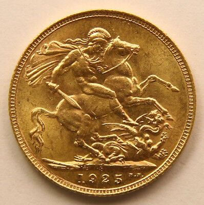 1925 S Gold Sovereign - King George V - UNC - Scarce