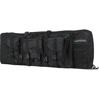 "New Valken Tactical 42"" Double Carbine Rifle Gun Carry Case Bag - Black"