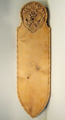 Old Norwegian  Wooden Bread Board With Nice Carvings