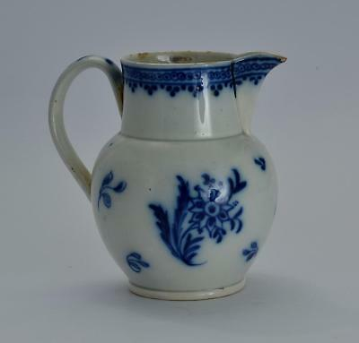 Late 18th early 19thC Blue & White Small Pearlware Jug