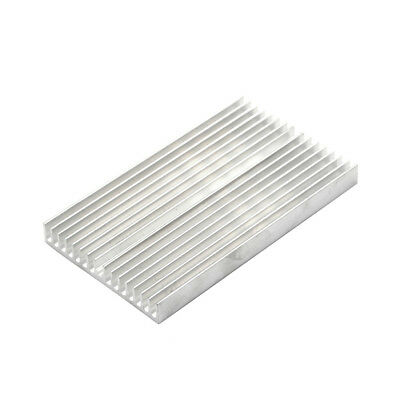 Silver Tone Aluminum Cooler Radiator Heat Sink Heatsink 100x60x10mm FadFO