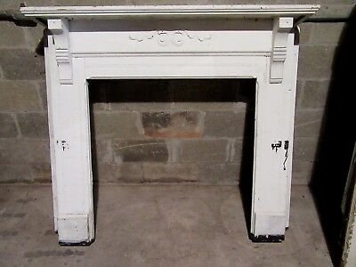 ~ Antique Carved Oak Fireplace Mantel~ 56 X 48 ~ Architectural Salvage ~