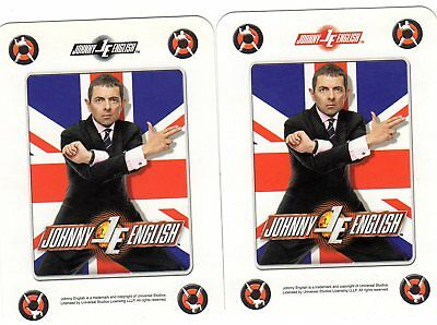 "Pair RARE MINT ""Johnny English Spy Comedy Film"" JOKER Playing Cards #285"