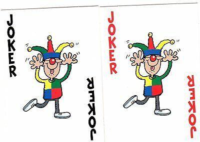 "Pair RARE MINT ""Cartoon Man Pulling Funny Face"" JOKER Playing Cards #287"