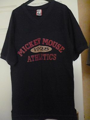 Walt Disney Mickey Mouse Athletics T Shirt Size S/M Made in USA BNWOT