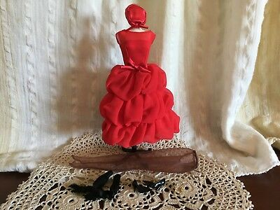 Barbie Silkstone Little Red Dress OUTFIT ONLY, Newly DeBoxed, Includes Earrings
