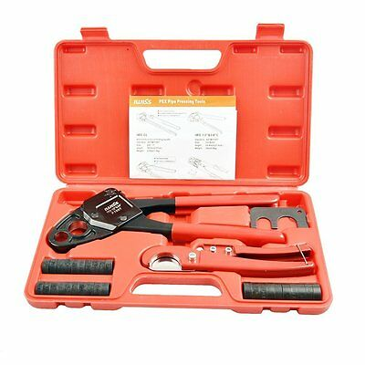 """IWISS F1807 1/2""""&3/4"""" Combo Copper Ring Crimping Tool for Pex Pipe Connection wi"""