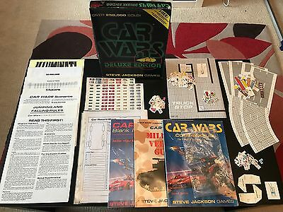 Amazing Car Wars Deluxe Edition. Steve Jackson Games. VGC. 1986