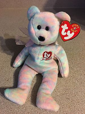 Mint TY Beanie Babies Collection 2001 Celebrate 25th Anniversary Bear Plush Tags