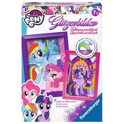 Ravensburger Glitzerbilder My little Pony | Kreatives Kinder Bastelset ab 7 Jahr
