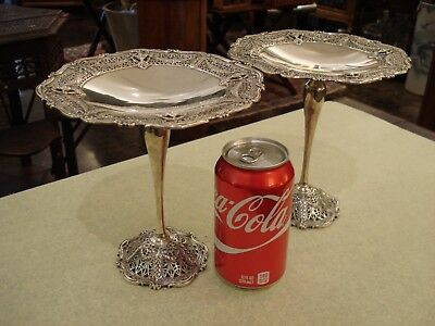 Extraordinary Pair Of Shreve & Co. Sterling Silver Tazza Compotes