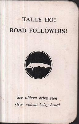 Tally Ho Road Followers booklet Vintage Hunting 1960s Fox Hunt Hounds Master