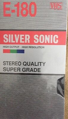 Blank VHS Tape E180 Silver Sonic Brand New & Sealed Free Shipping