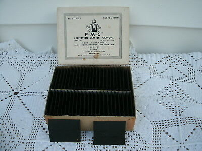 VTG Tailor  P-M-C--Perfection Master Crayons--Black--48 Pcs---New/Old Stock
