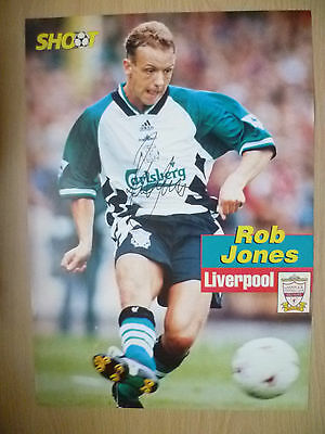 Original Hand Signed Press Cutting- ROB JONES, Liverpool FC (appx. A4)