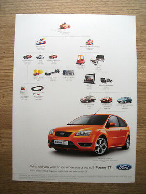 Ford FOCUS ST - When I grow up - 2007 ORIGINAL magazine advert poster