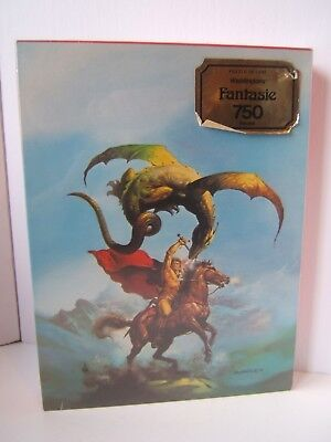 Flying Serpent VTG Sealed Waddingtons Fantasie Jigsaw Puzzle 750PC Boris Vallejo