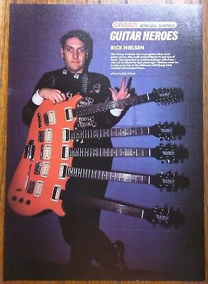Cheap Trick / Rick Nielsen / Original 1980's Magazine Pinup Clipping + Free Dvd